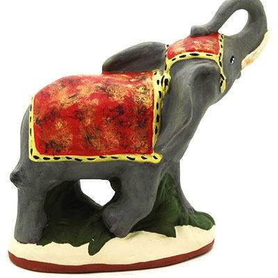 santon de provence peint a la main elephant dos
