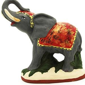 santon de provence peint a la main elephant profil