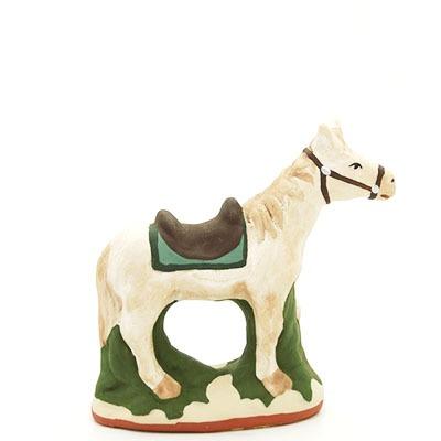 santon de provence peint a la main cheval 2 profil