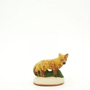 santon de Provence peint à la main renard