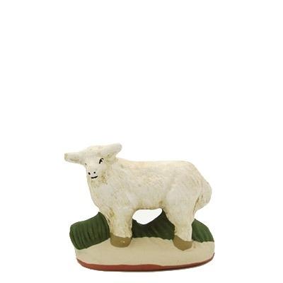 santon de provence peint mains mouton debout