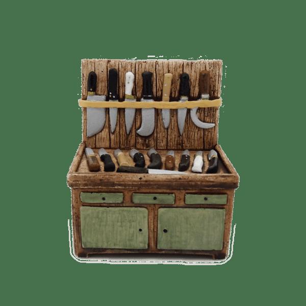 Décors de crèches provençale étal couteaux
