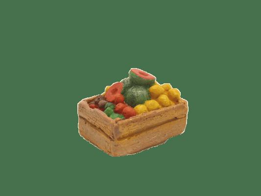 Décors crèches cagette melons et citrons