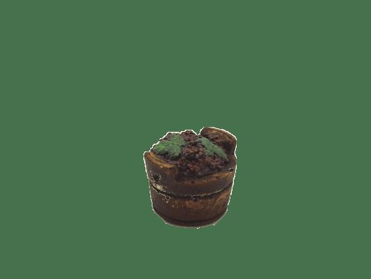 Décors crèche caisse à vendanges raisin rouge