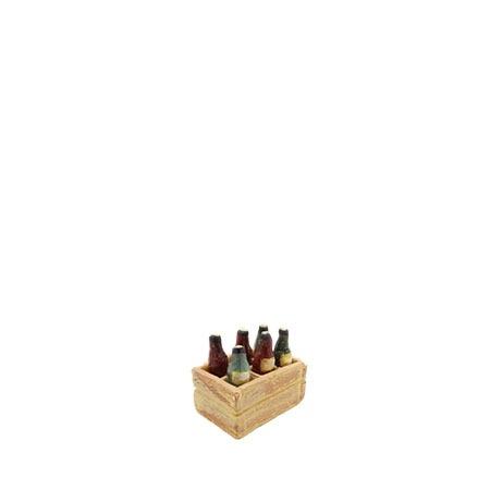 Caisse de bouteilles de vin creche decors