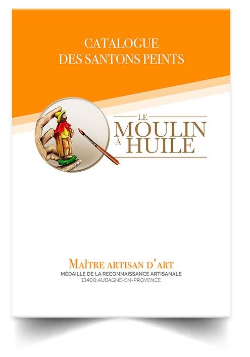 Santon de Provence peint et à peindre - Le moulin à Huile