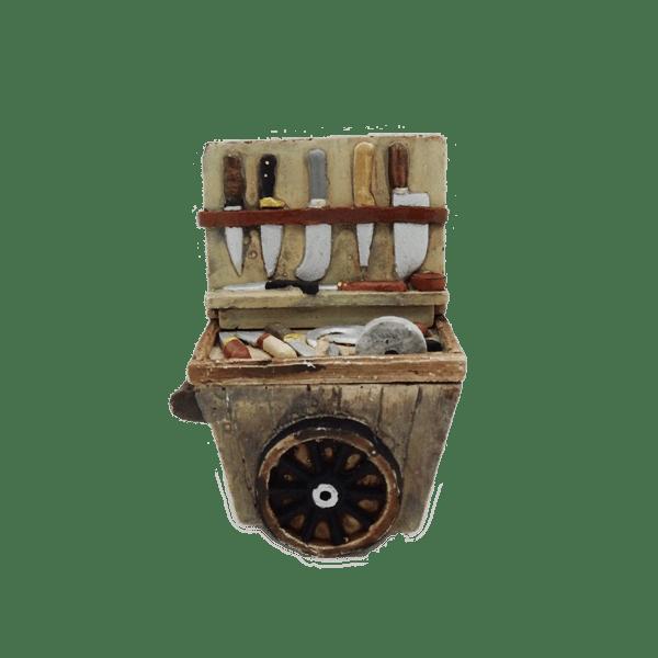 Charrette du rémouleur décors de crèche
