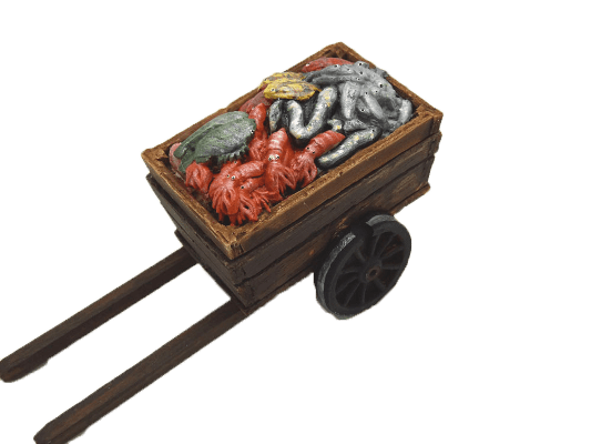 Décors crèche charrette du poissonnier
