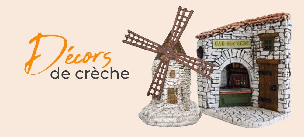 Décors de crèche Provence moulin à huile