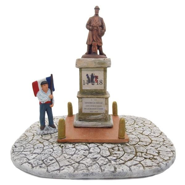 Commémoration 14-18 décors de crèche de Provence