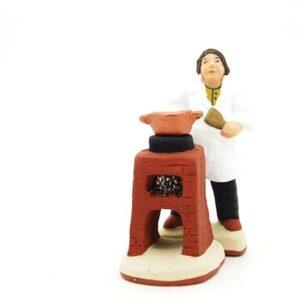 santon de Provence cuisinier ambulant peint a la main