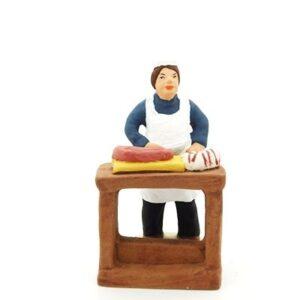 santon de provence le boucher peint a la main