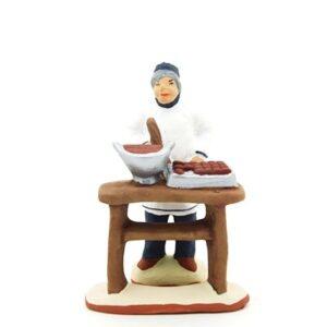 chocolatier santon de provence peint à la main