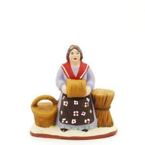 santon de provence la vanniere peint à la main
