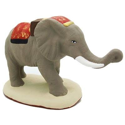 santon peint main éléphant