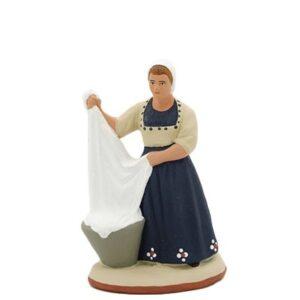 santon de provence peint à la main lavandiere