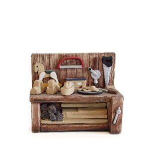 Décors de crèche étal du fabricant de jouets en bois