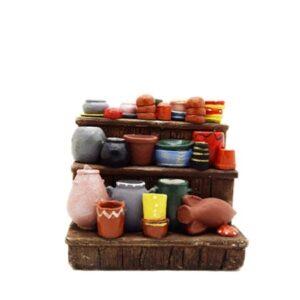 étal poterie décoré Décors crèche