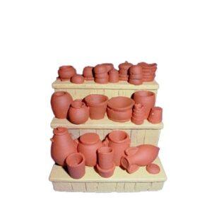 Décors de crèche étal poterie brut