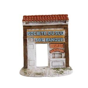 décors de crèche de provence - façade banque