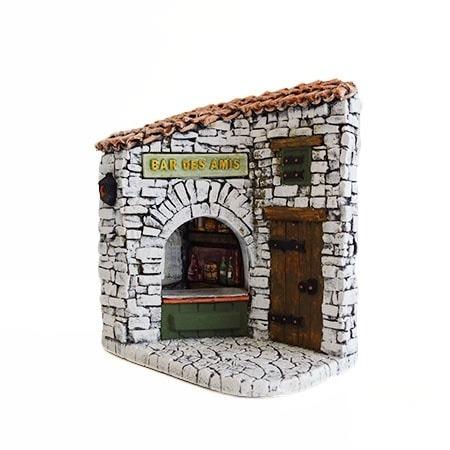 Façade bar des amis décors de crèche de Provence