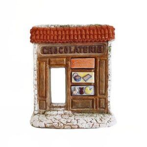 Décors de crèche de Provence Façade de la chocolaterie