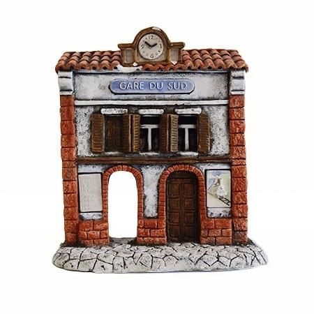 décors de crèche de provence - façade gare