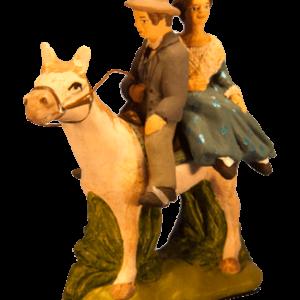 Gardian arlésienne à cheval
