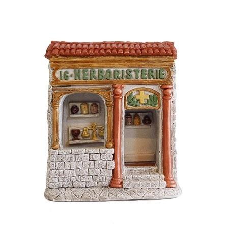 Façade herboristerie décors de crèche de Provence