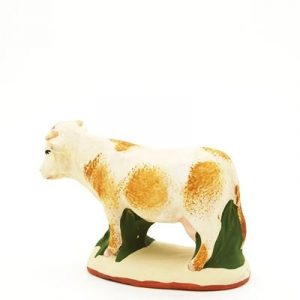 santon de provence peint a la main vache