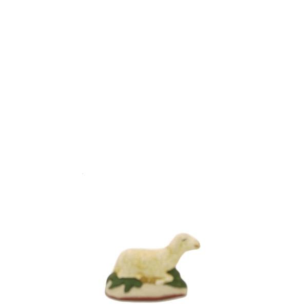 santon de provence peint a la main mouton couché 2