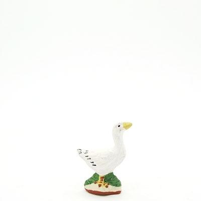 santon de provence peint a la main l'oie