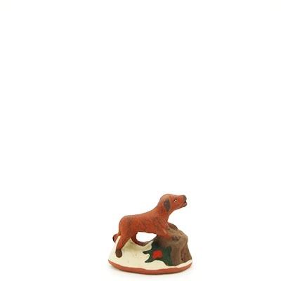 santon de provence peint a la main chien debout