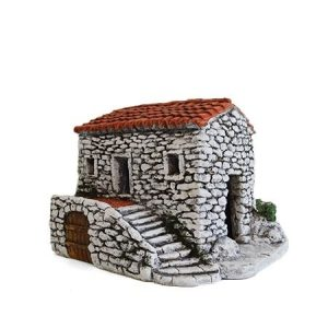 Décors de crèche de Provence Maison carrée