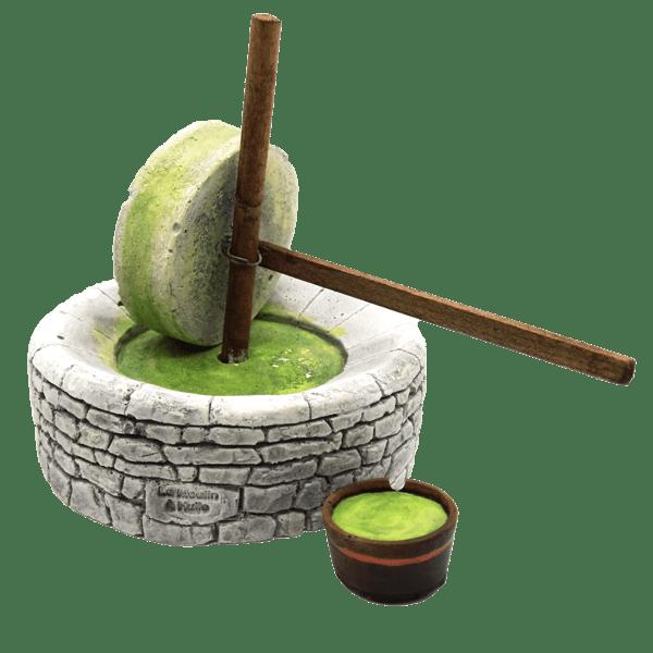 Decors de crèche la meule à olives