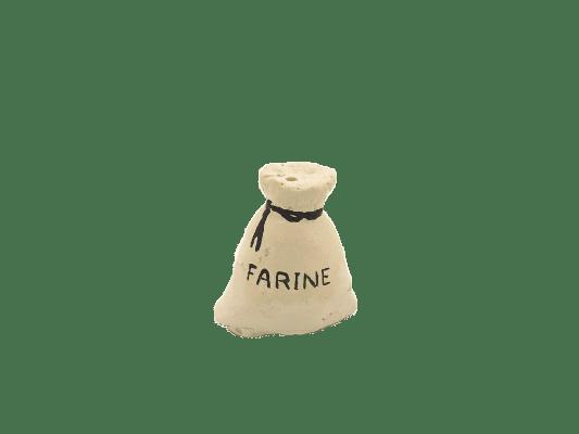Décors crèche sac de farine