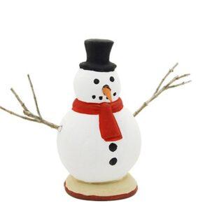 santon peint à la main Bonhomme de neige