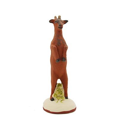 Chèvre sur ses 2 pattes santon peint a la mains