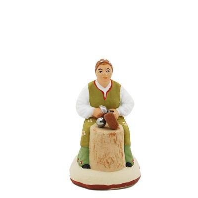 Santon de Provence peint à la main Ferreuse de boules