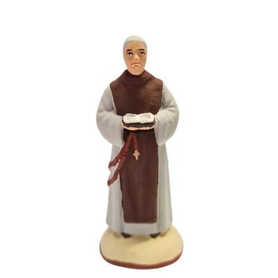 Le moine de saint joseph peint à la mains santon de provence