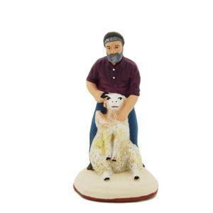 santon peint à la main Tondeur de mouton