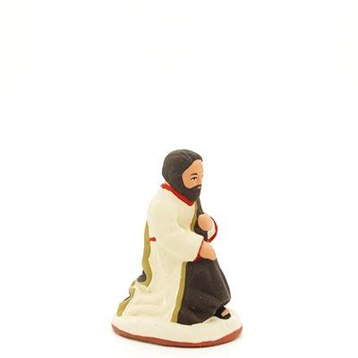 santon de provence peint à la main joseph profil