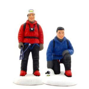 Santons Les Jumeaux Alpinistes peint à la mains