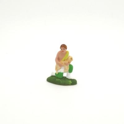 Mini santon de Provence le berger à genoux