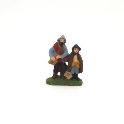 Santon puce le joueur et son fils