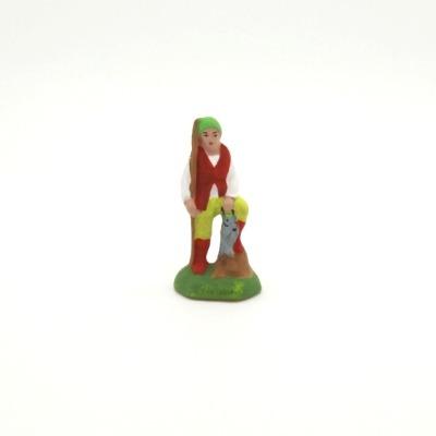 Mini santon de Provence le pêcheur à la ligne