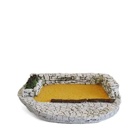 Terrain de pétanque décors de crèche de Provence