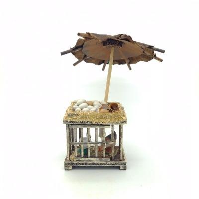 Santon Provence décors cage parasol