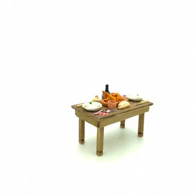 Santon Provence table poulet vin