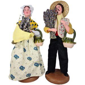 santon 27cm homme lavande femme lavande